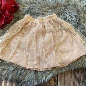 Zara Pink Tulle Sparkle Skirt